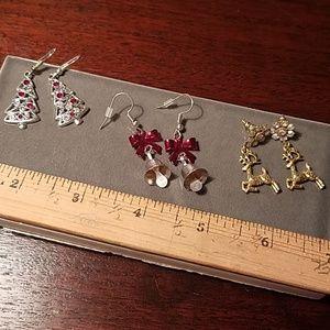 Jewelry - Christmas/holiday earring bundle of three
